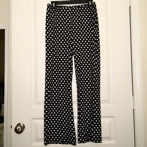 Focus 2000 Black & White Silky Pants Size S